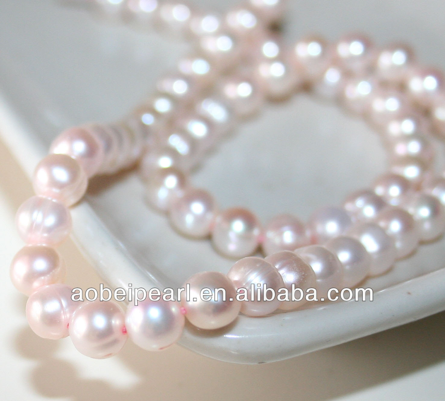 6-7MM Pink Potato Shaped Fresh Water Pearl Strands