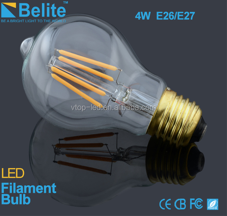 3w e26 a19 filament led E27 B22 high bright bulb glass frosted edison type