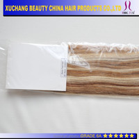 "22"" Grade 6a unprocessed virgin hair ,Best selling peruvian tape in hair extension"