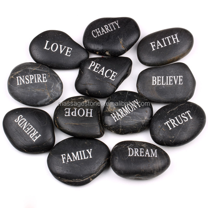 Wholesale Engraved Word Worry Stone Pocket Inspiration