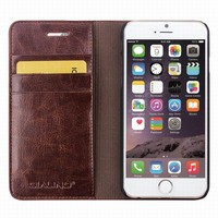 QIALINO Hand Made Real Leather Mobile Phone Wallet Case For iPhone 6 6S 4.7inch Accessories