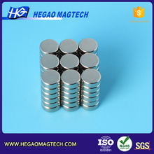 D6.35 x 2.54mm neodymium magnets jewelry making