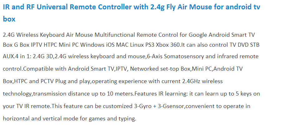 2.4G Mini Wireless Mouse and Keyboard Multi-touch Touchpad Remote Control Fly Air Mouse Gaming Keyboard