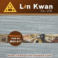 Linkwan Taiwan W03-017 woven hotel fabric fake bamboo wallpaper