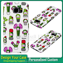 Hand made PC Water transfer and customized logo printing for galaxy s6 s5 cell phone case made in China