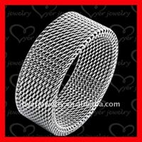 expanded chain 316l stainless steel ring