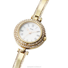 2018 gold with diamonds and set in gift box quartz movt watch