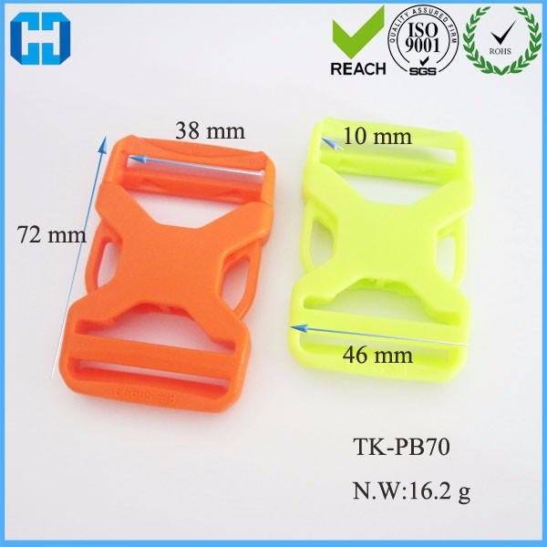 Fast Delivery Colorful Contoured Side Release Plastic Buckle For Paracord