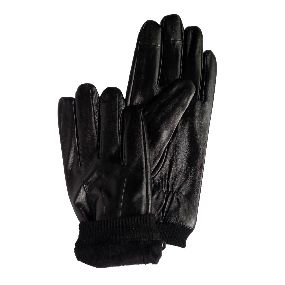 stock black leather gloves stock clearance black real sheep leather high quality magic touch screen leather gloves on sale