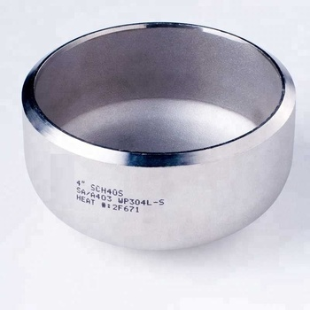 304 304L/316/316L stainless steel Polishing mirror dish end Pipe fitting Cap