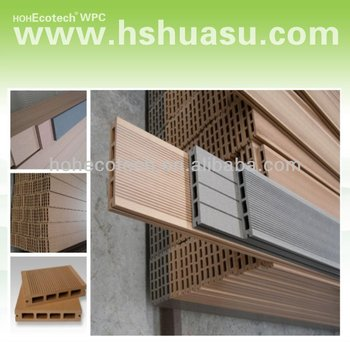 Cheap high qulity composite hollow board wpc decking for Cheap decking material