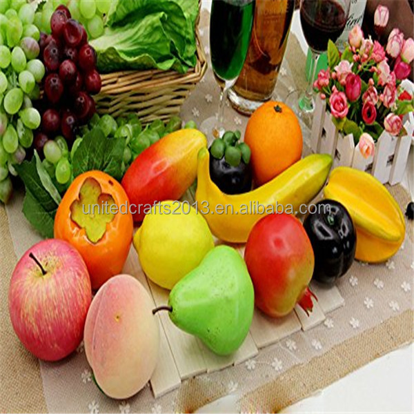 2016 China supplier Decoration Artificial Plastic Fake Dried Fruit