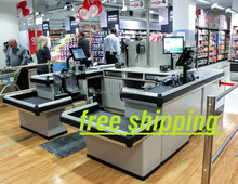 Top Quality to USA motorized checkout counter cash register stand with great price
