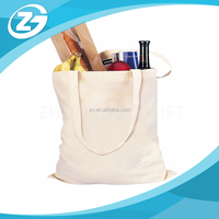 Factory Price Custom Plain Natural Color Economical 100% Cotton Reusable Wholesale Durable Twill Grocery Tote Bags