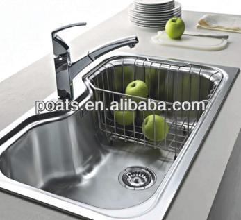 2015 New Product Design Kitchen Sink Big Bowl With Basket