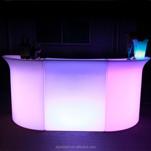Cheap price glowing bar furniture LED portable bar/LED counter top bar/Portable LED light bar counter