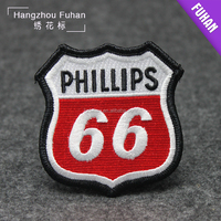 China factory machine made embroidered badges with pin