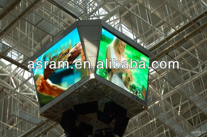 outdoor waterproof P16mm perimater LED display/ Shenzhen LED banner/ LED panel Aliexpress Asram advertisement Shenzhen LED