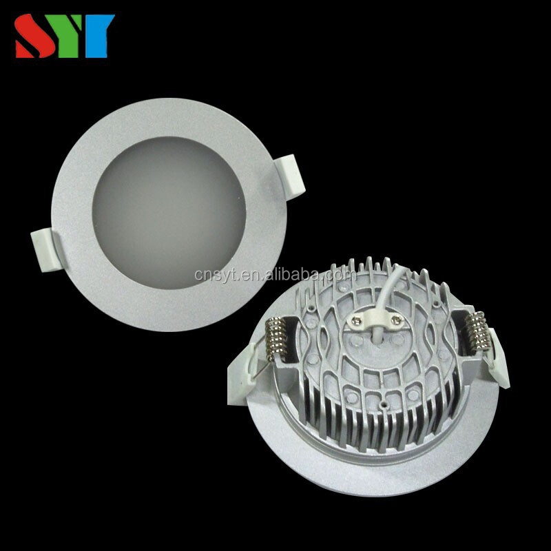 10w 12w 13w SAA led recessed ceiling down light led plate down light dimmabel white Chrome cover