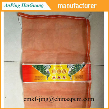 From China manufacturer the pp and pe mesh bag with label