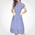 Stretchable Peter Pan Collar Luxury Party Wear Dress For Girl Reliable Supplier