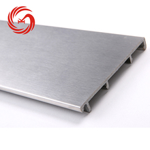 Silver 1.2mm thickness stainless steel skirting board plinth