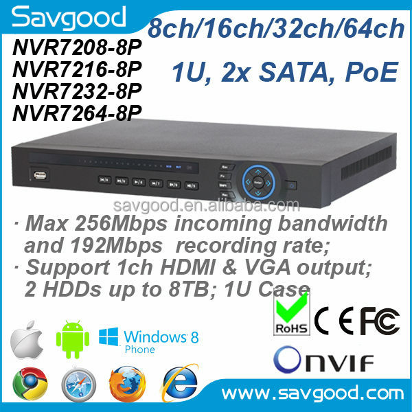 The most cost-effective 64ch PoE NVR supporting 8ch PoE port Dahua NVR7264-8P