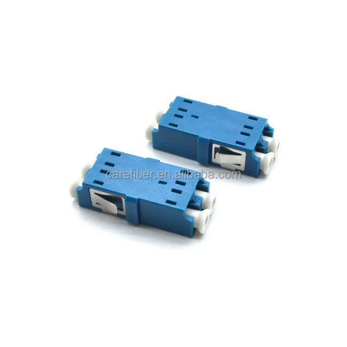 LC-UPC Adapter Duplex Single Mode Fiber Optic Adapter Zirconia Sleeve