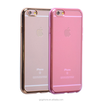 High quality ultra thin tpu electroplating case for iphone6s/ iphone6