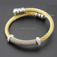 SB0731039 alibaba high quality gold plated charm bangle china factory 316l stainless steel jewelry