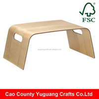 Yuguang Crafts High Quality Promotional Bentwood Wooden Breakfast Serving Tray