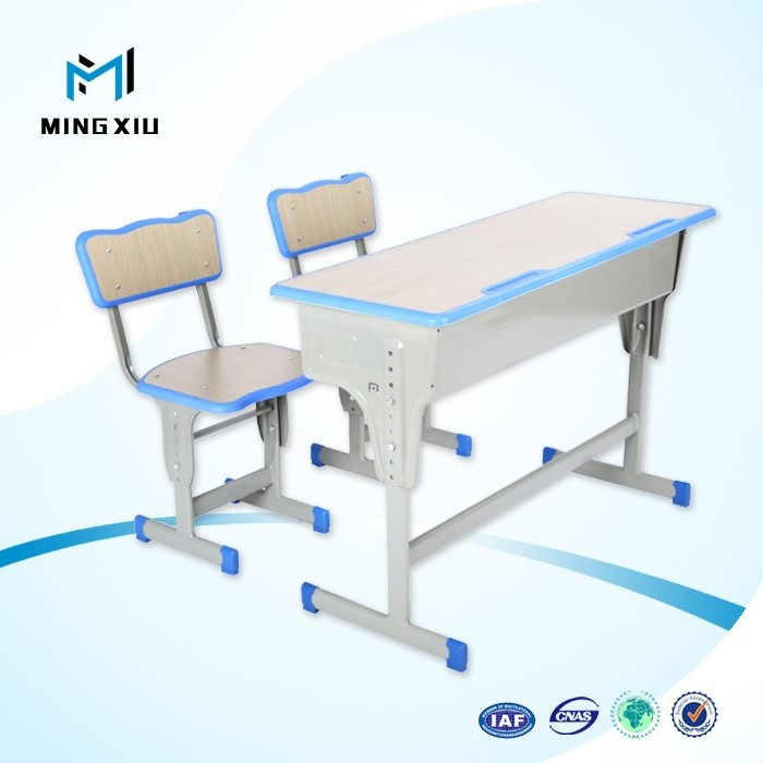 Mingxiu top quality knock down durable metal school desk and chair