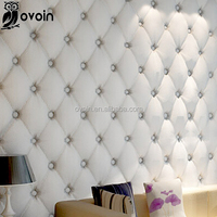 European Wallpaper 3D Effect Geometric Wallcovering Wall Paper For Living Room