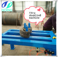 Waste tire processing machine by tyre tripling machine tire doubling machine