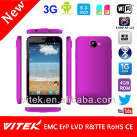 5.3 inch Quad Core touch panel MTK6589 Android 3G Smart Phone