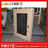 Aluminum wood composite casement windows with steel stainless mesh