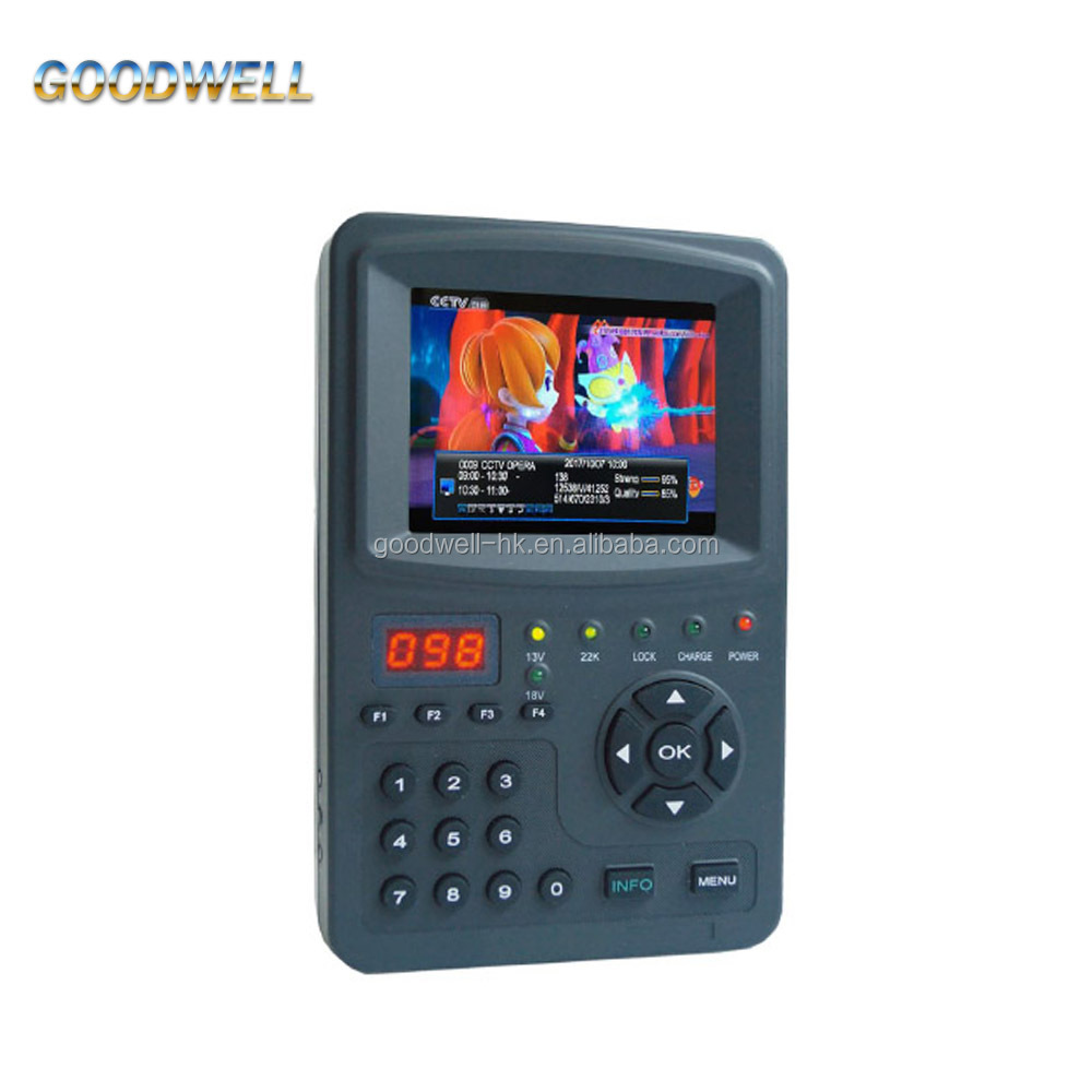 "Wholesale 3.5"" Handheld DVB-S <strong>Satellite</strong> Finder Meter with AV Input & Output ,DC12V Output for CCTV Camera"