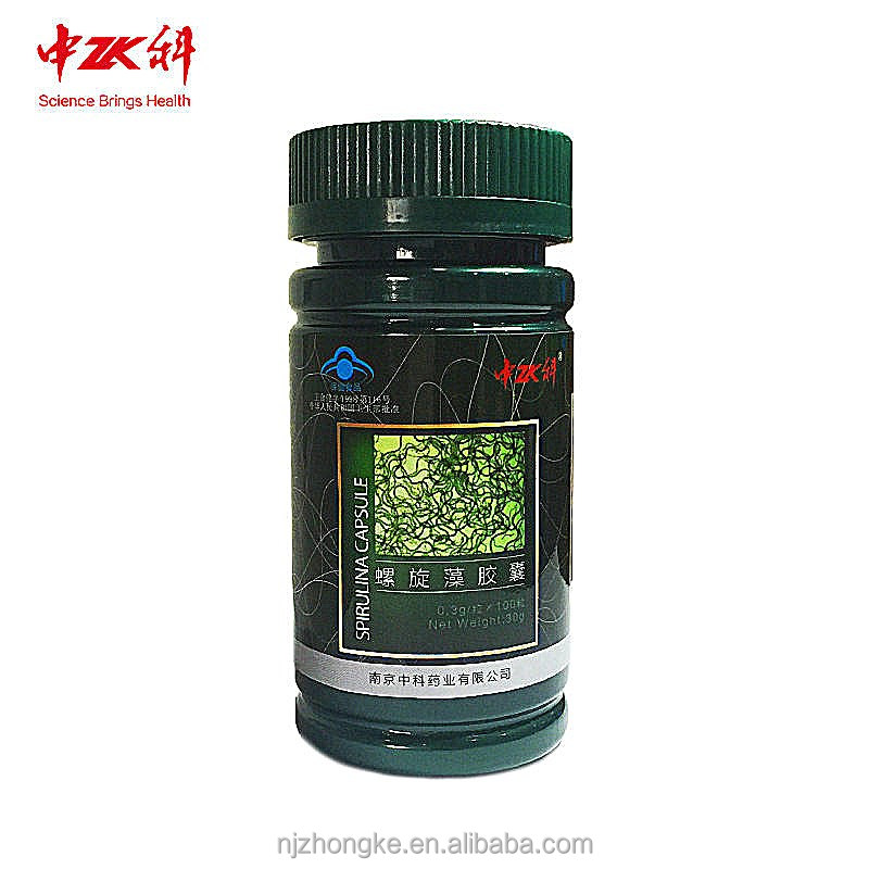 2017 powder spirulina supercritical co2 extraction capsule 300mg/cap*100caps/box health benefits of spirulina organic food