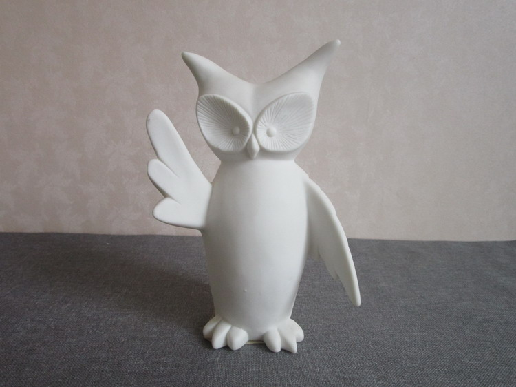 High quality art white large ceramic owls for sale