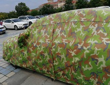 Hail resistant camouflage outdoor car cover