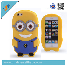 Large amount supply 3D Despicable Me minion silicone case for iphone 5s soft case