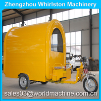 electric tricycle mobile food cart/three wheel motorcycle food cart/3 wheel food cart