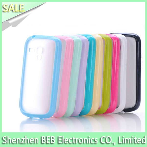 9 kinds color available case for samsung galaxy s3 mini as best gift