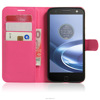 Leather phone wallet for moto z play stand card mobile phone holster for moto z play