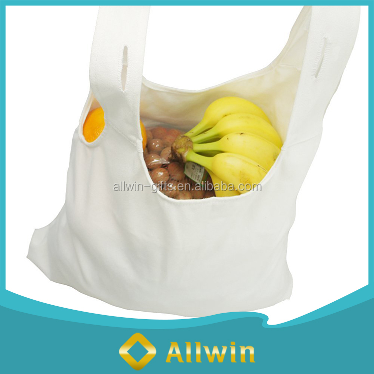 Wholesale reusable eco-friendly grocery canvas shopping bag