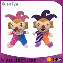 High Quality 2016 China Kids Toys Custom Dolls Clown Plush Stuffed Toy