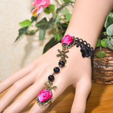 Facotry charms bracelet accesseries wholesale FC-24 alloy rose flowers tracking device bracelet