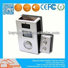 Passive Infrared And Infrared Pir Detector Solar Power Motion Detection Alarm with Remote Control