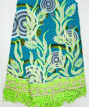 WL149 latest design for garment Holland style high quality wax lace/African Ankara Lace Fabric