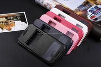 Flip Case Black Window View PU Leather Case Flip Cover Folio Case for HTC One M8